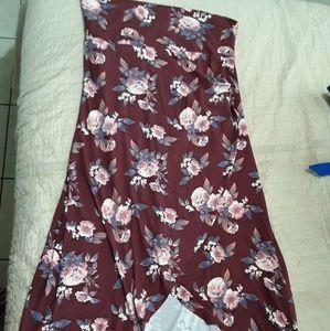 Dresses & Skirts - Stella tweed maroon floral tulip skirt